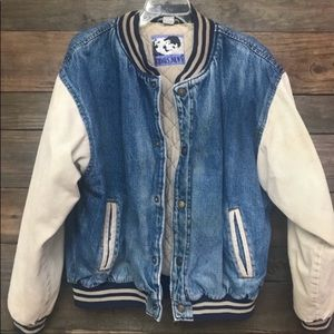 Vintage Todays News Distressed Bomber Jacket XL